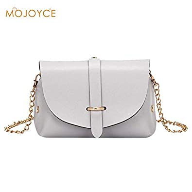 23b142ee84 Amazon.com: New Flap Bag Fashion Women Chain Messenger Bags Tote Shoulder  CrossBody Bag Sac a Main Femme de Marque Casual Simple Style PEPU Color  Gray: ...