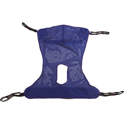 Mesh Full Body Sling with Commode Opening Tested for Comfort & Security in Homecare & Long Term Care by Top Shelf (XL 60
