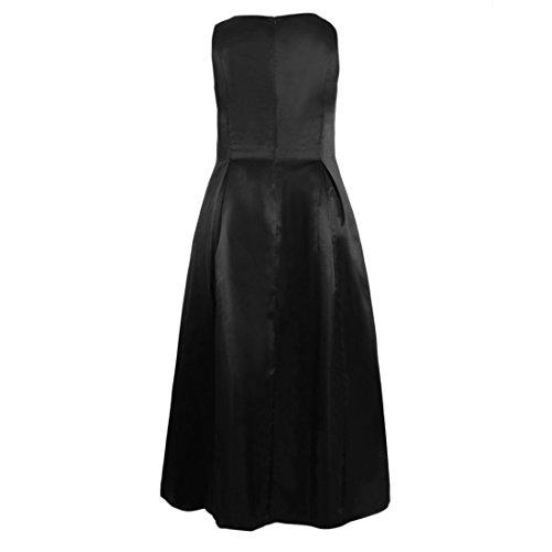 Les Femmes Sans Manches Ai.moichien O Lâche Robe Maxi Solide Long Cou Robe De Soirée Noire