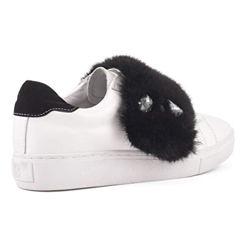 Fur Colors Hc California Leather Nero Donna Upper Of With Sneakers sun013 Fake gapgCq