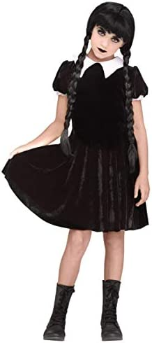Horror-Shop Disfraz de niña gótica el miércoles XL: Amazon.es ...