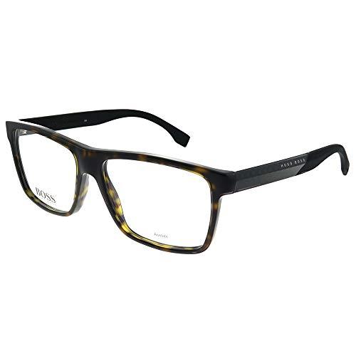 Hugo Boss Men's Eyeglasses 0880 HXF Dark Havana Rectangle Optical Frame 55mm