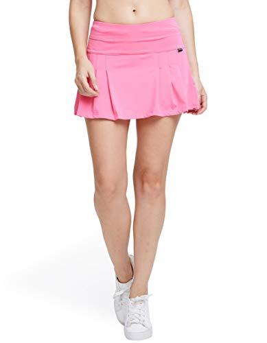 Power Pleated Tennis Skirt - SEEU Women's Active Athletic Tennis Skirt Pink US L