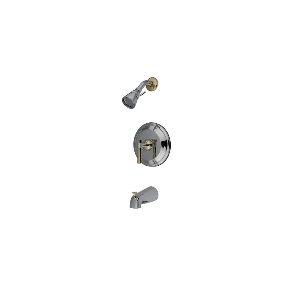 Elements of Design EB2634ML New York Single Handle Tub and Shower Faucet, Polished Chrome and Polish