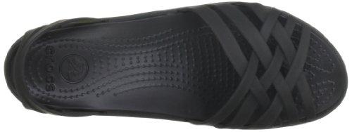 Huarache Sandales Noir Black Crocs Femme Black pqC411F