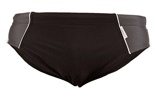STANSK0016 STANTEKS XL grau Badeslip Herren Classic Badehose Schwimmhose Schwimmbekleidung (schwarz-grau, XL)
