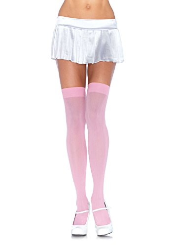 Leg Avenue Women's Opaque Nylon Thigh High Stockings