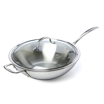 Calphalon Tri-Ply Stainless Steel 12\ inch Wok with Lid