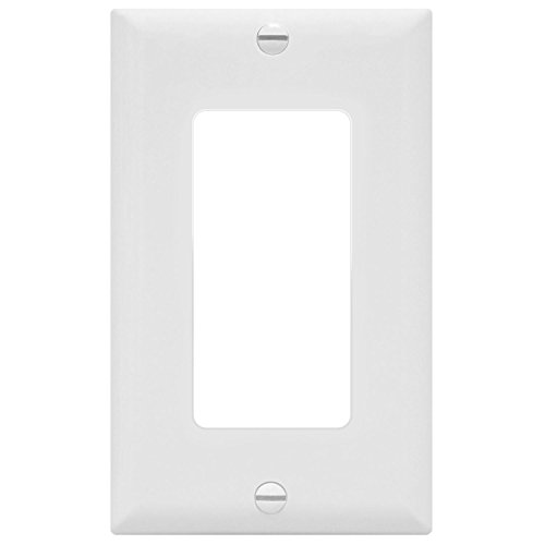 ENERLITES Decorator Light Switch or Receptacle Outlet Wall Plate, Size 1-Gang 4.50
