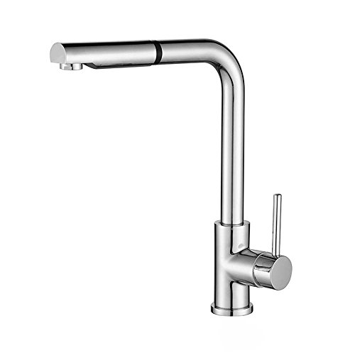 Gyps Faucet Basin Mixer Tap 7 Field single handle pull-down kitchen faucet kitchen basin rotation full copper hot and cold tap double-tap,Modern Bath Mixer Tap Bathroom Tub Lever Faucet