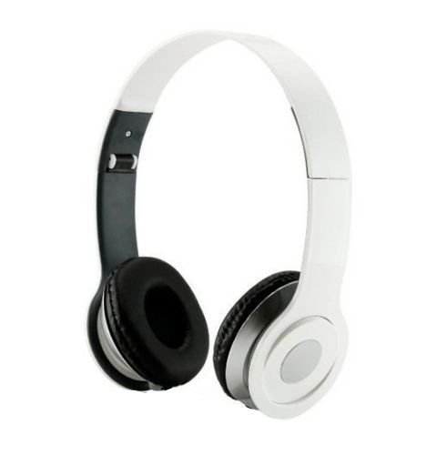 SoundStrike 3.5mm Foldable Headphone Headset for Dj Headphone Mp3 Mp4 Pc Tablet sandisc Music Video and All Other Music Players (Angel White W/Mic)