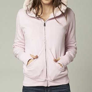 Fox Racing Girls Muze Sasquatch Hoody Zip Sweatshirt, Pale Pink, Small by Fox Racing