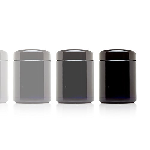 Infinity Jars 250 ml (8.5 fl oz) Tall Black Ultraviolet Refillable Empty Glass Screw Top Jar 10-Pack (Antique Spice Jars compare prices)