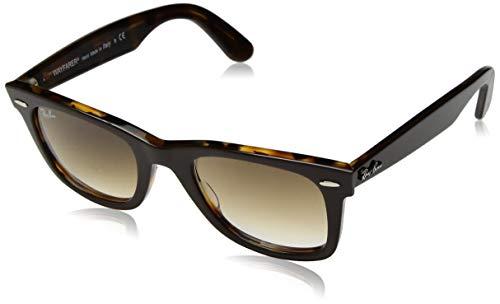 Ray-Ban Wayfarer Square Sunglasses, Top Brown on Yellow Havana, 50 mm ()