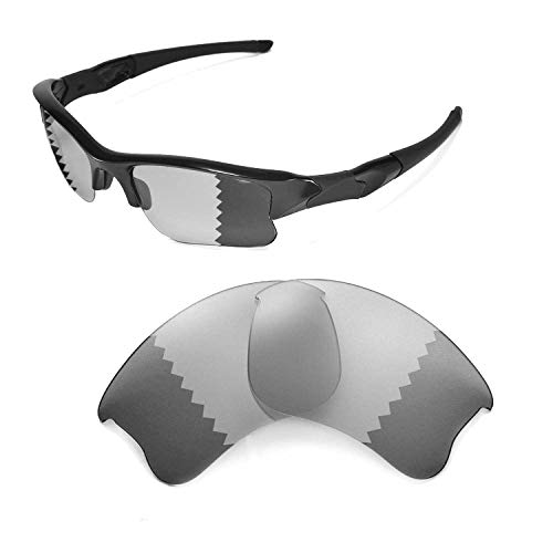 Walleva Replacement Lenses for Oakley Flak Jacket XLJ Sunglasses - Multiple Options (Transition/photochromic - Polarized) ()