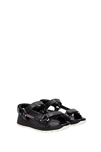Black Prada Women 3X6143NERO Sandals UK IqUZBnP
