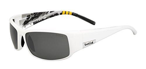 Bolle King Sunglasses, Medium/Large, TNS Gun, Shiny White - King Bolle