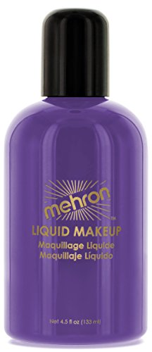 Mehron Makeup Liquid Face & Body Paint, PURPLE – (Airbrush Costumes Makeup)