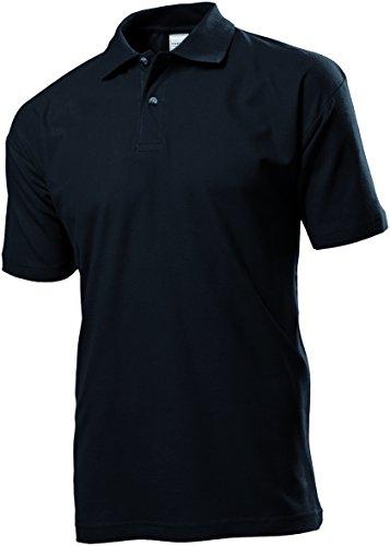 STEDMAN Herren Poloshirt Ohne Logo 100% Baumwolle - XXL, Schwarz