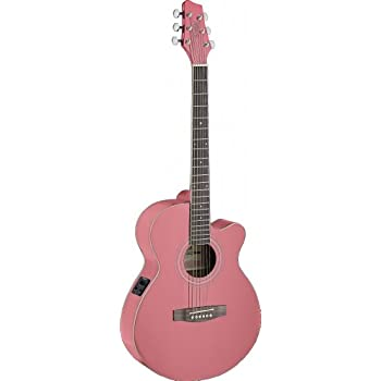 stagg sa40mjcfi pk acoustic electric guitar musical instruments. Black Bedroom Furniture Sets. Home Design Ideas