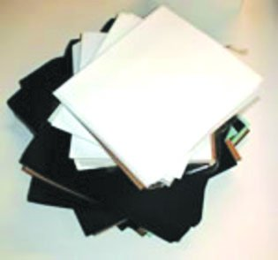 Black 15'' x 18'' Screen Printing Test Pellon Squares 100 Pack by VLS