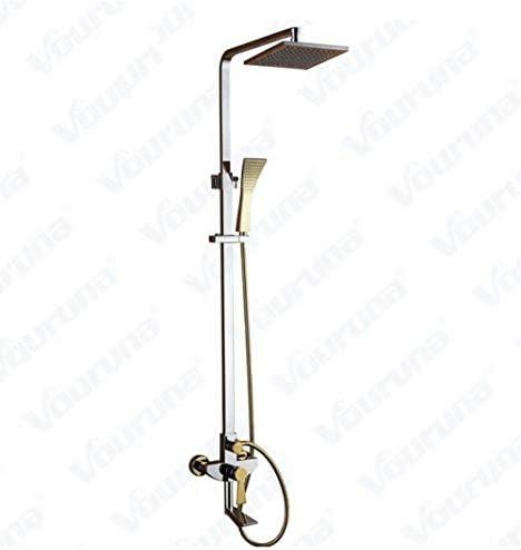 ラグジュアリークローム&ゴールデン浴室のシャワーセットの卸売高品質 ソリッドブラス