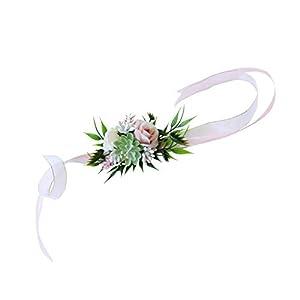 Prettyia Wedding Rose Succulent Plant Bride Bridesmaid Wrist Flower Hand Flower Favor 106
