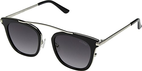 ceb3eb221f3 GUESS Womens GF6063 Shiny Black With Silver Smoke Gradient Lens One Size