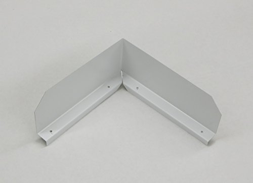 Gutter Valley Splash Guard - Bent (LOW GLOSS WHITE (3 - Valley Roof