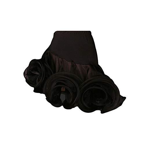 LightInTheBox Women's Performance Rayon Polyester Spandex Ruffles Latin Samba Dance Dress Black (Skirt Latin Dance)