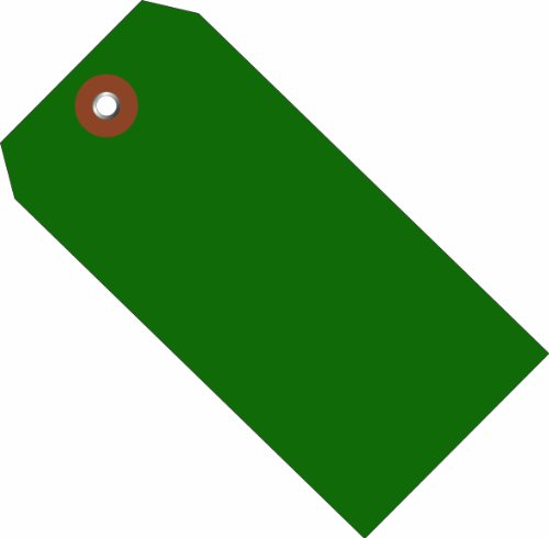 Aviditi G26054 Plastic Shipping Tags, 4 3/4'' x 2 3/8'', Green (Pack of 100) by Aviditi