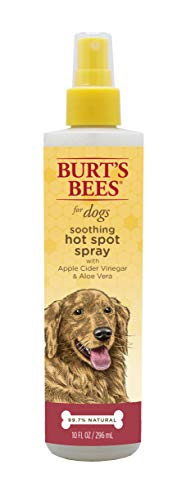 Burt's Bees All Natural Hot Spot Spray for Dogs | Relieves & Soothes Dog Hot Spots | Made with Apple Cider Vinegar & Aloe Vera, 10 oz