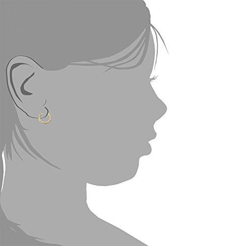 Boucles d'Oreilles Enfant créoles Or Jaune 18 Carats