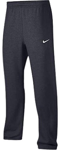 Nike Club Swoosh Men's Fleece Sweatpants Pants Classic Fit, Medium - Anthracite Cotton Fleece Straight Leg Pant