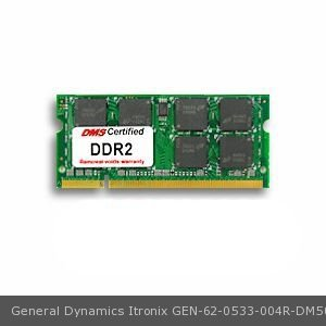 DMS Compatible/Replacement for General Dynamics Itronix 62-0533-004R GoBook VR-1 512MB DMS Certified Memory 200 Pin DDR2-533 PC2-4200 64x64 CL4 1.8V SODIMM - DMS