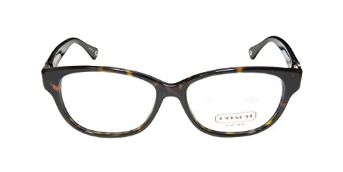 COACH HC6038 Amara Eyeglasses Dark Tortoise wDemo Lens (5001) HC 6038 51mm Authentic