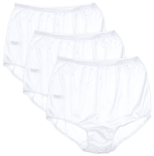 Carole 3-pk. Nylon Briefs 888 12 White