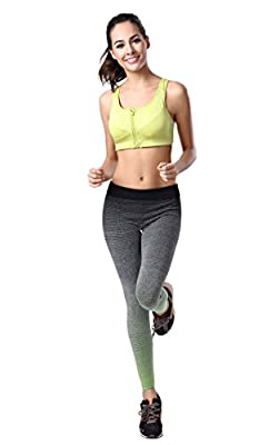 Women's Ombre Full Ankle Length Tights Active Yoga Running Pants Workout Leggings