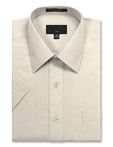 JD Apparel Men's Regular Fit Short Sleeve Dress Shirts 18-18.5N 2XL -