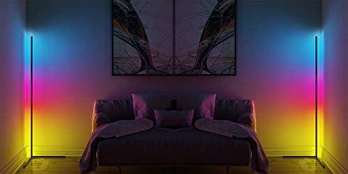 Lampada Moderna Angolare da terra dimerabile comandi a distanza,multicolore soggiorno camera da letto ufficio bar ristorante luce