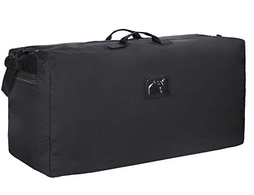 Water Resistant Oversize Black INFANZIA 47 Inch Zipper Travel Duffel Gym Sports Luggage Bag