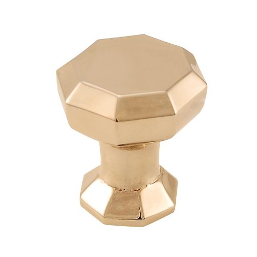 Italian Decorative Hardware Contemporary Knob - Vicenza Designs K1035 Archimedes Octagon Knob, Small, Polished Gold