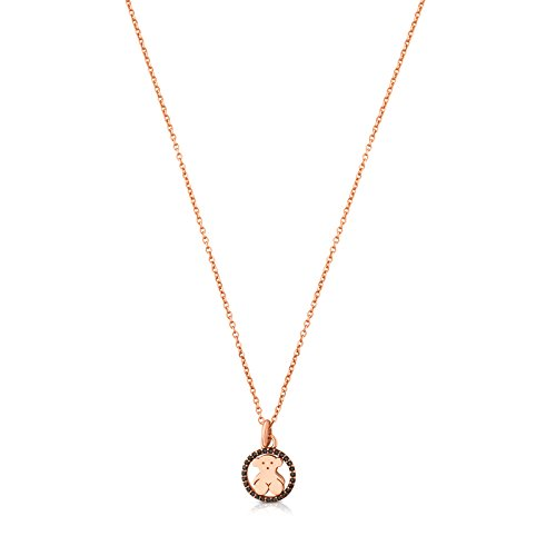 TOUS Camille Necklace in Rose Vermeil Silver with spinels.