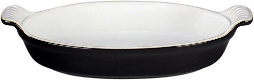Le Creuset Heritage Stoneware 1-Quart Oval Au Gratin Dish, Black