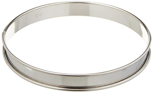 - Matfer Bourgeat 371611 Plain Tart Ring, Silver