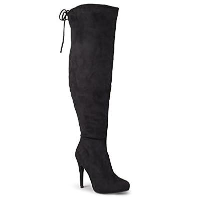 Amazon.com | Journee Collection Women's Over-the-knee High Heel ...