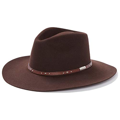 - Stetson Men's 5X Pawnee Fur Felt Cowboy Hat Chocolate 7 1/8