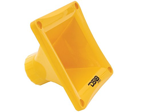 DS18 PRO-H44 Yellow Universal Square Driver Tweeter Horn Body Easy Twist On/Off Installation, Set of 1 (Yellow)