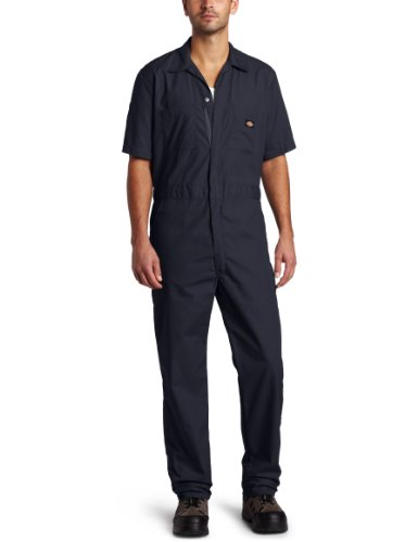 Dickies Men's Short Sleeve Coverall, Dark Navy, Small Regular -