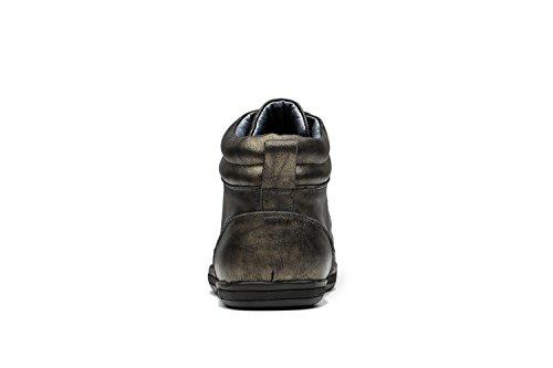 Opp Herre Læder Ankelstøvler Simple Sko Snørebånd Og Bronze QnCqg